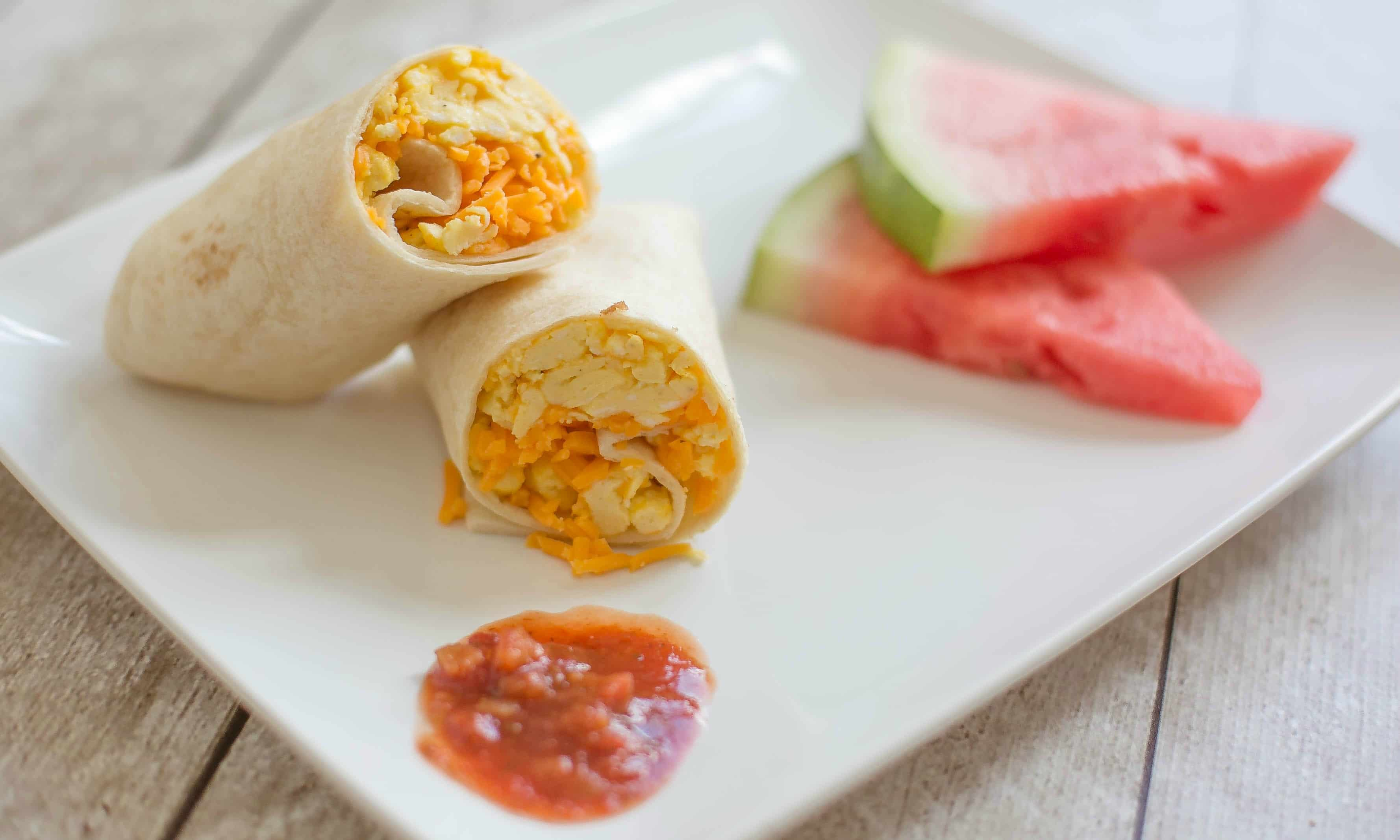 These make-ahead burritos can be frozen for a quick and easy on-the-go breakfast