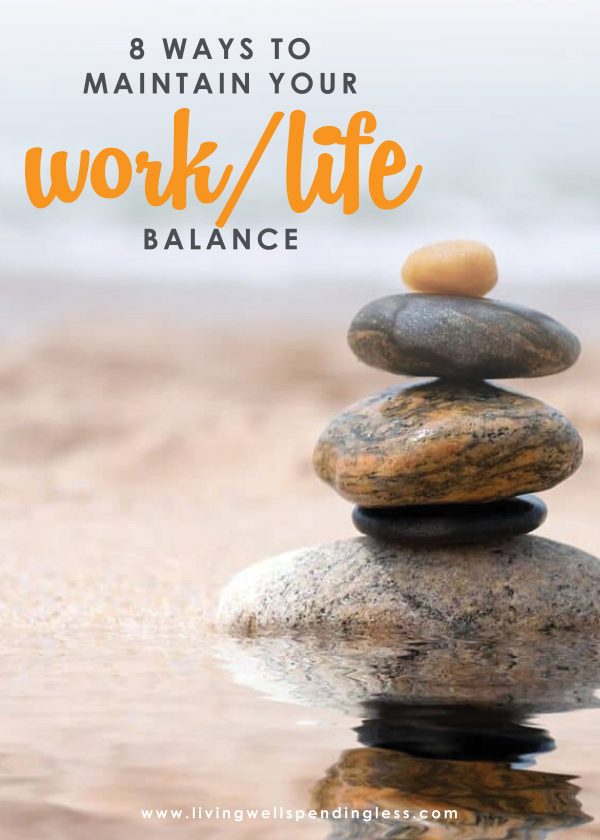 And while life might never be perfectly balanced, there is a way to find your groove. If you've ever felt like you are failing on multiple fronts, don't miss these 8 simple ways to maintain your work/life balance. It might just change your life!