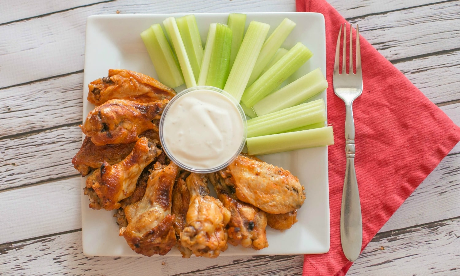 Does it get any better than buffalo wings and celery with blue cheese dipping sauce? Grab your fork and don't forget a napkin!