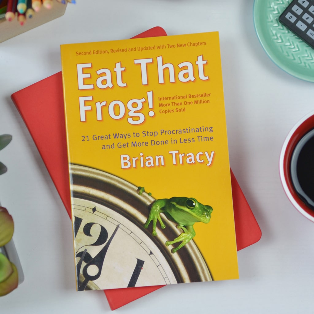 Eat That Frog! by Brian Tracy is a book about procrastinating less and getting more stuff done.