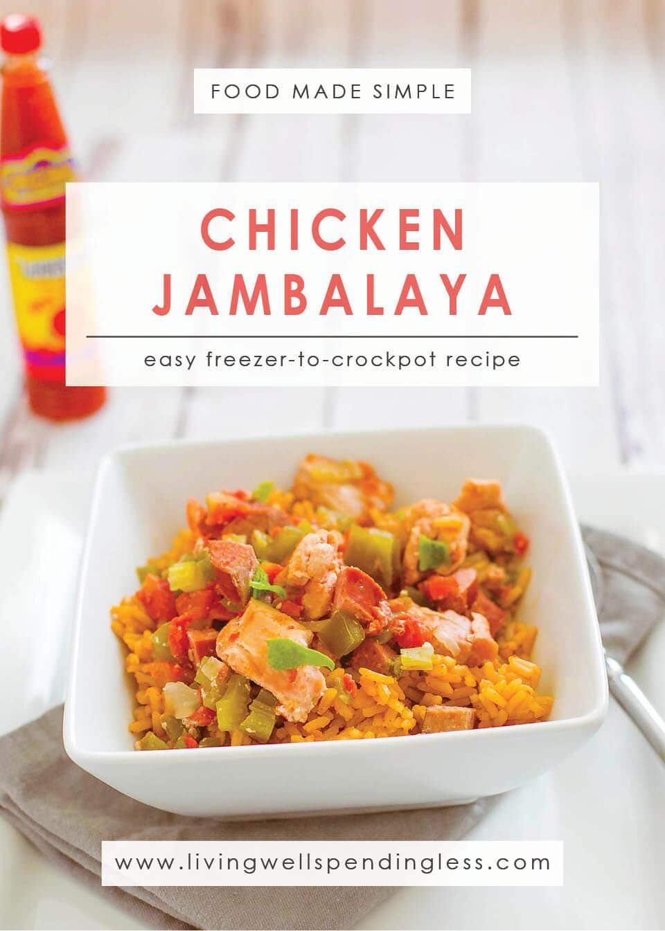Easy Chicken Jambalaya: A Simple Freezer-to-Crockpot Recipe