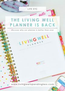 The Living Well Planner is Back | LWSL Planner | Time Management | Lifestyle