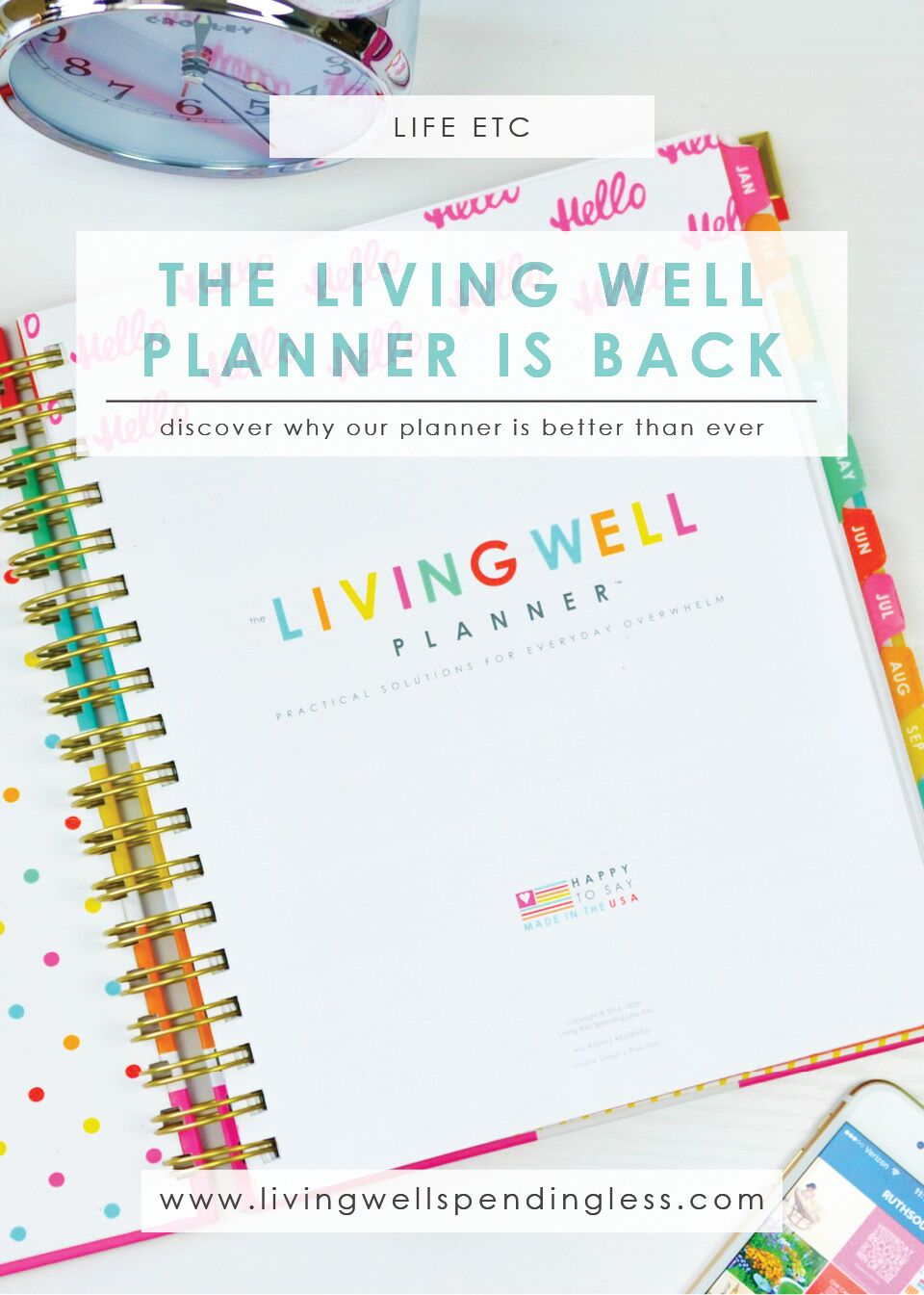 The Living Well Planner is Back: Discover Why Our Planner Is Better Than Ever