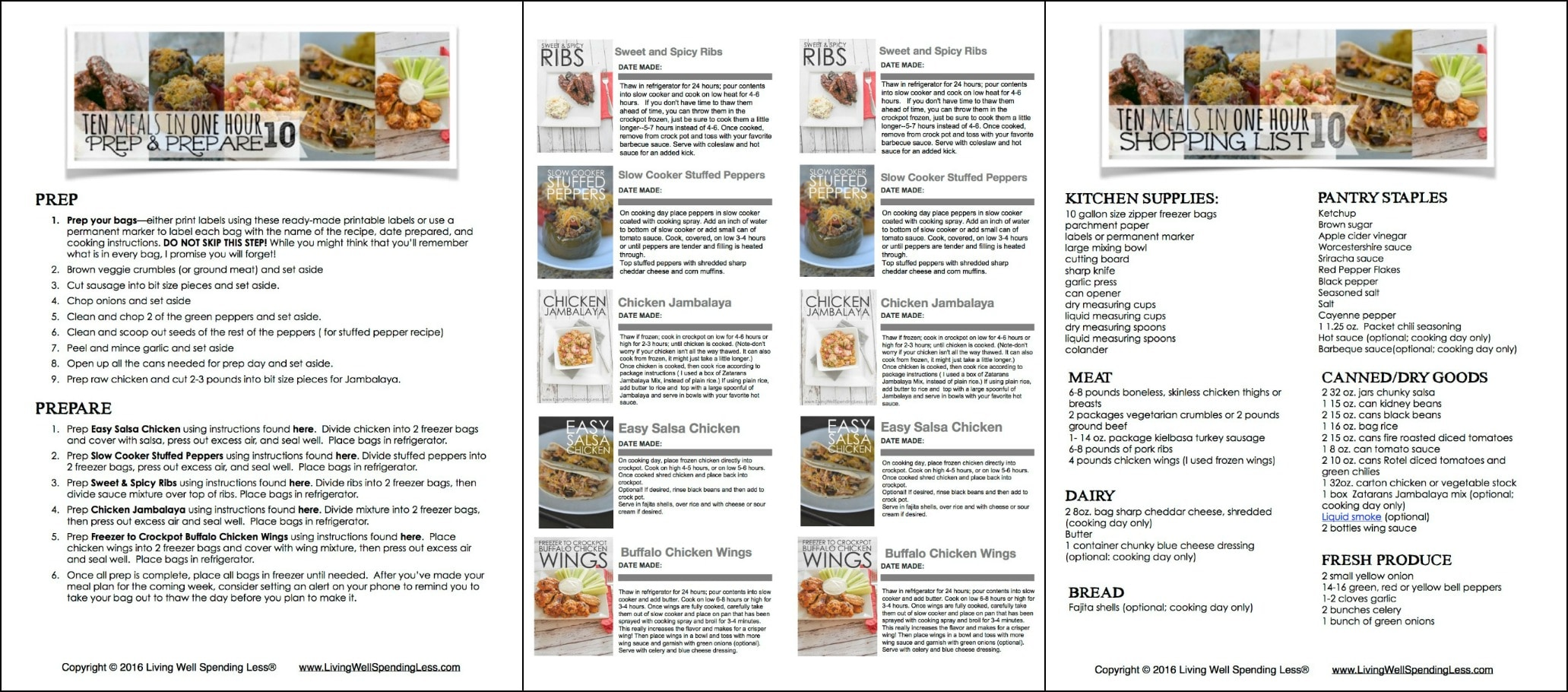 10 Meals in an Hour 10 3 Printables