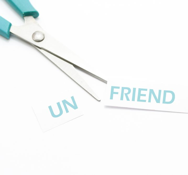 Unfriending those on social media who are no longer in your life is healthy.