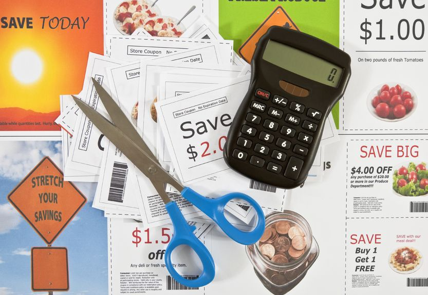 Cut coupons to save on groceries