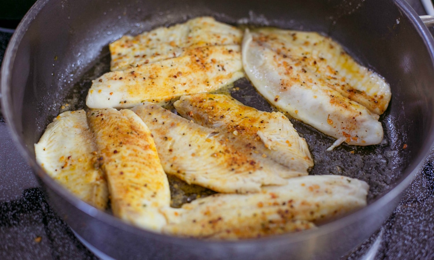 Pan fry the fish fillets with butter
