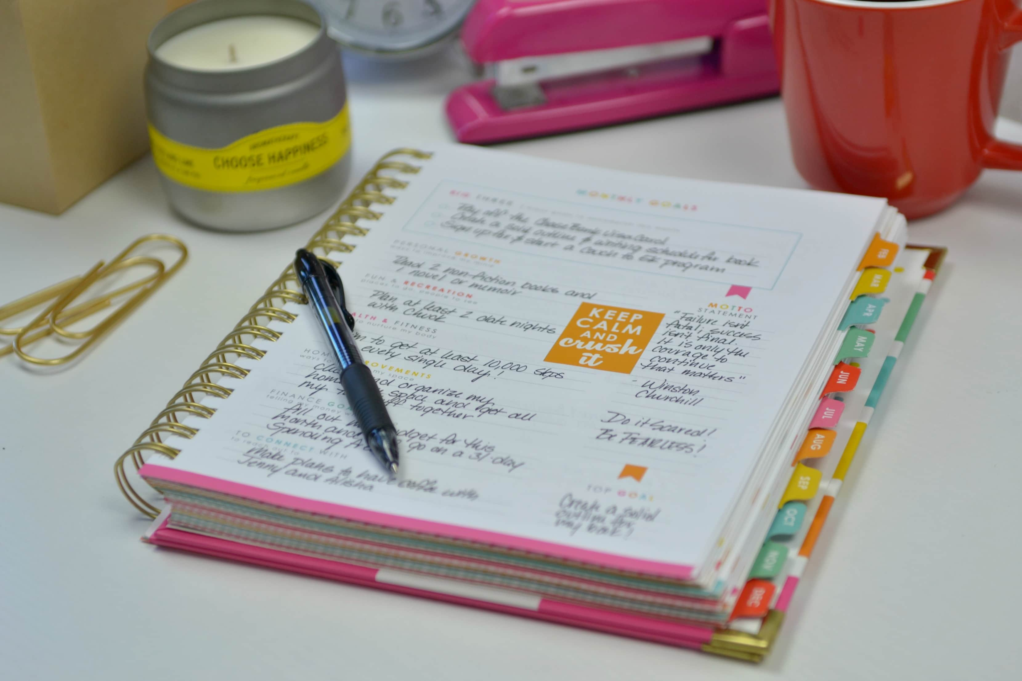 Using a personal planner is a great way to organize your life.