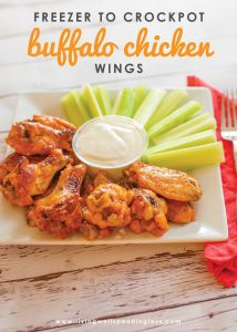 These ridiculously easy buffalo wings go straight from the freezer to crock pot for a simple meal or appetizer that is guaranteed to score points with your entire crew!