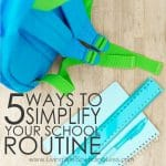 School Routine Square