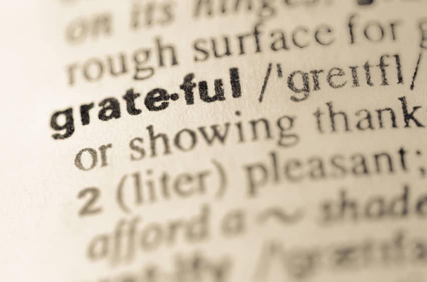 Overcoming grief can make you a more grateful person.