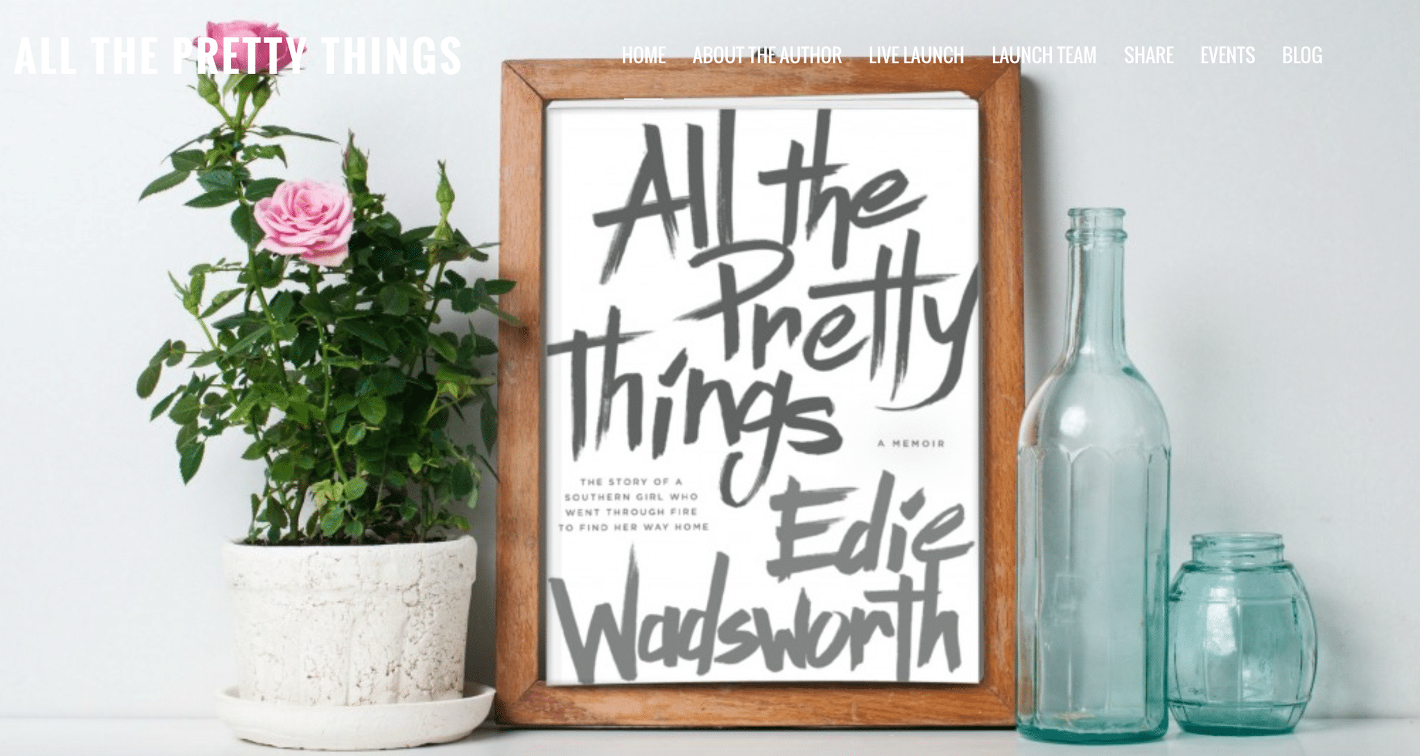 Edie Wadsworth's book, All the Pretty Things is an inspirational read on God and spirituality.