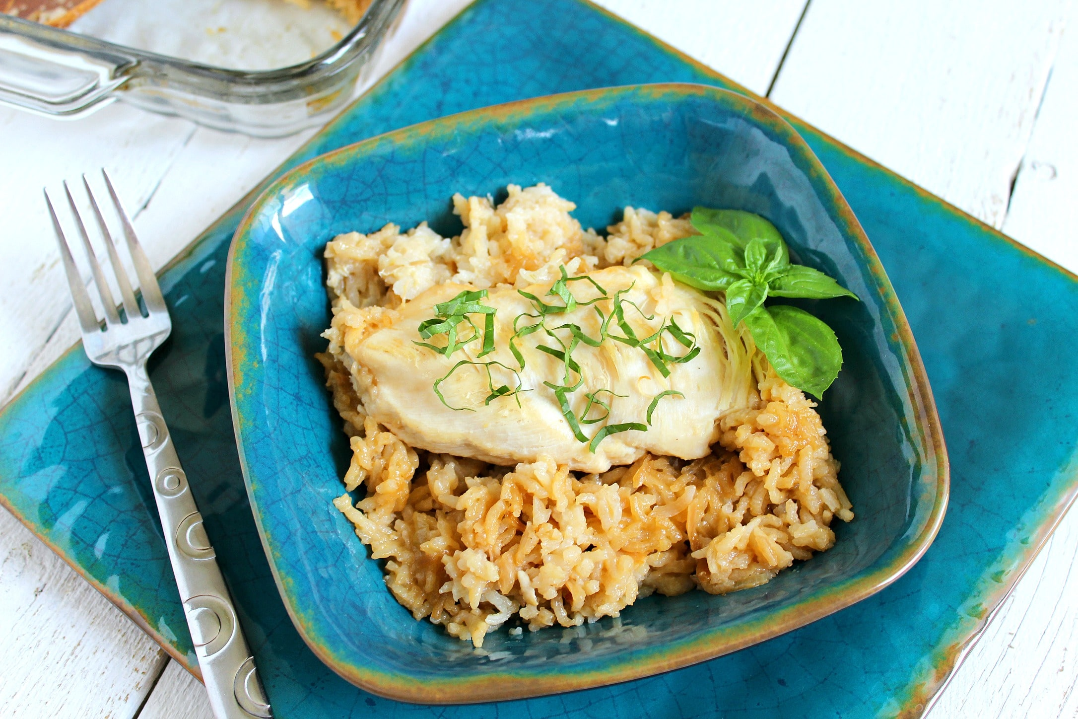 This chicken and rice casserole is so delicious and easy. It's a perfect weeknight recipe.