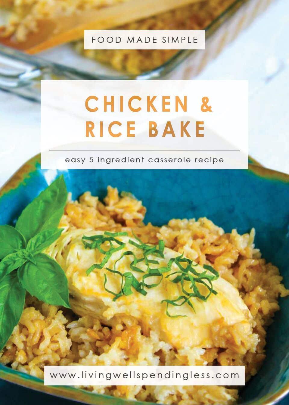 5 Ingredient Chicken Bake: Easy 5 Ingredient Casserole Recipe