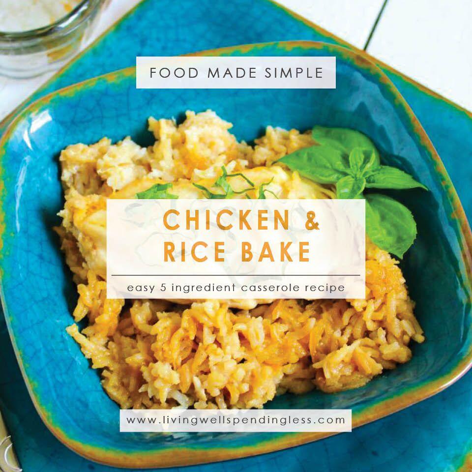 5 ingredient chicken rice bake one dish chicken recipe 5 ingredient chicken bake one dish chicken recipe 5 ingredients or less food forumfinder Choice Image