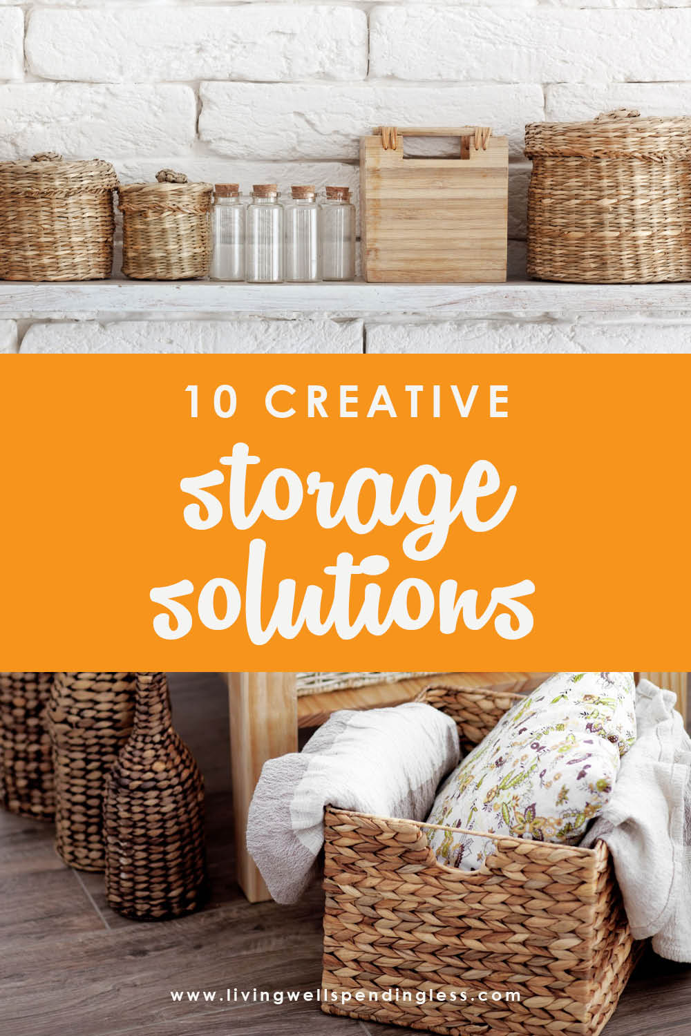 Need more space for your stuff? Use these creative storage solutions to maximize organization within your home and declutter! #declutter #organization #organizationalhacks #storagesolutions #maximizespace #tinyliving #storage
