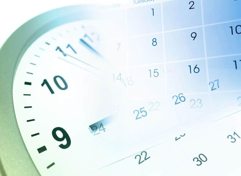 12196236 - clock face and calendar composite