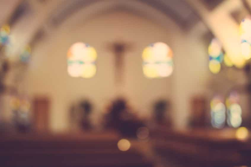 39087939 - church interior blur abstract background