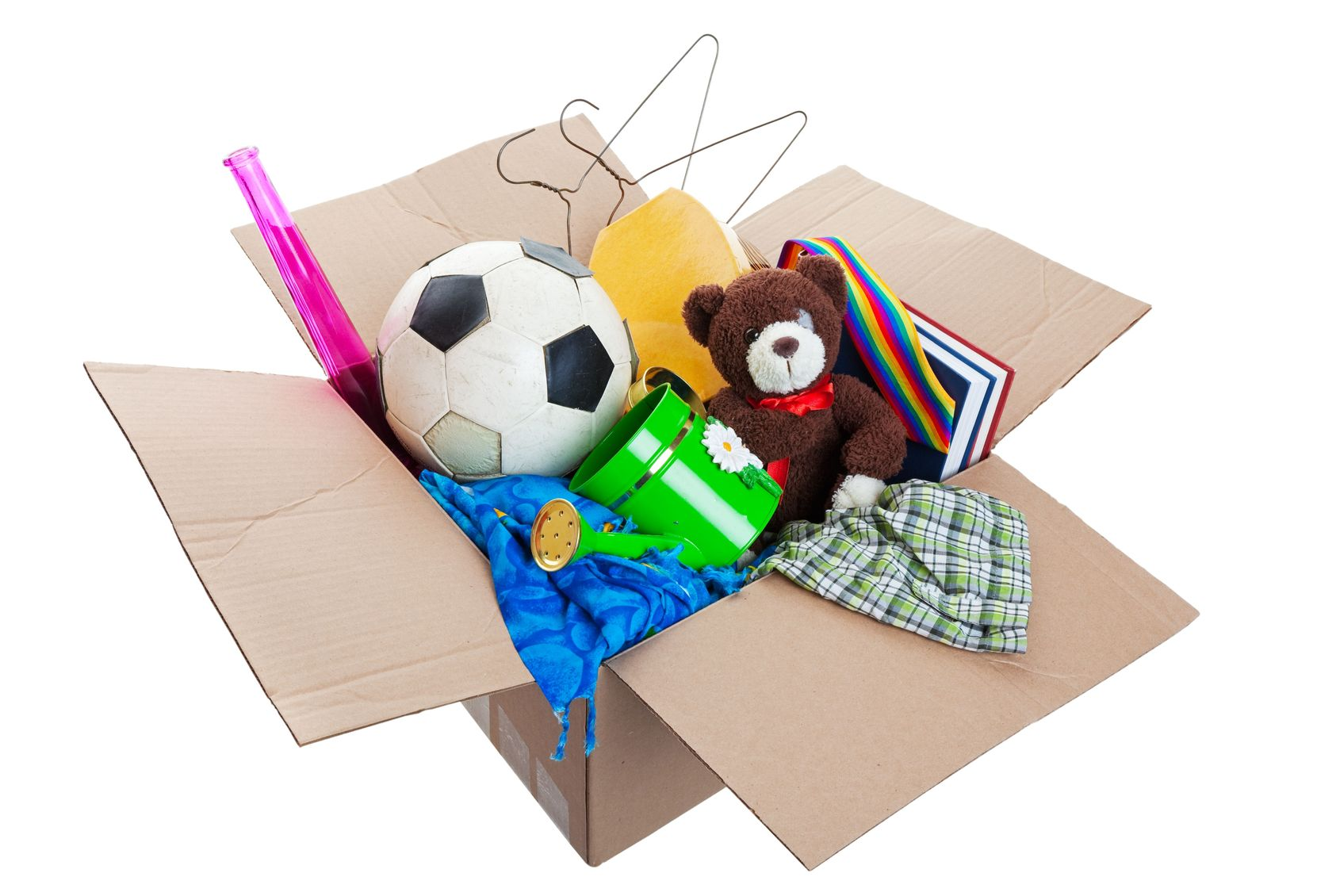 If your kids have boxes of stuff all over, help them purge and decide what's important to keep