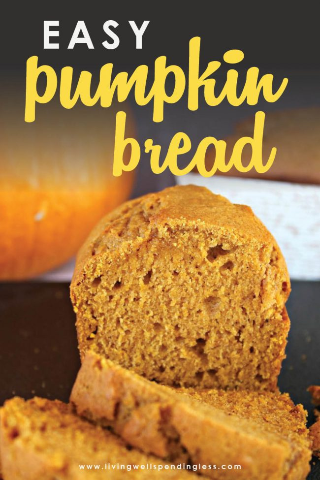 Want all the flavor of fall without too much effort?  This ridiculously yummy homemade pumpkin bread is so quick and easy you'll be making it all month long!