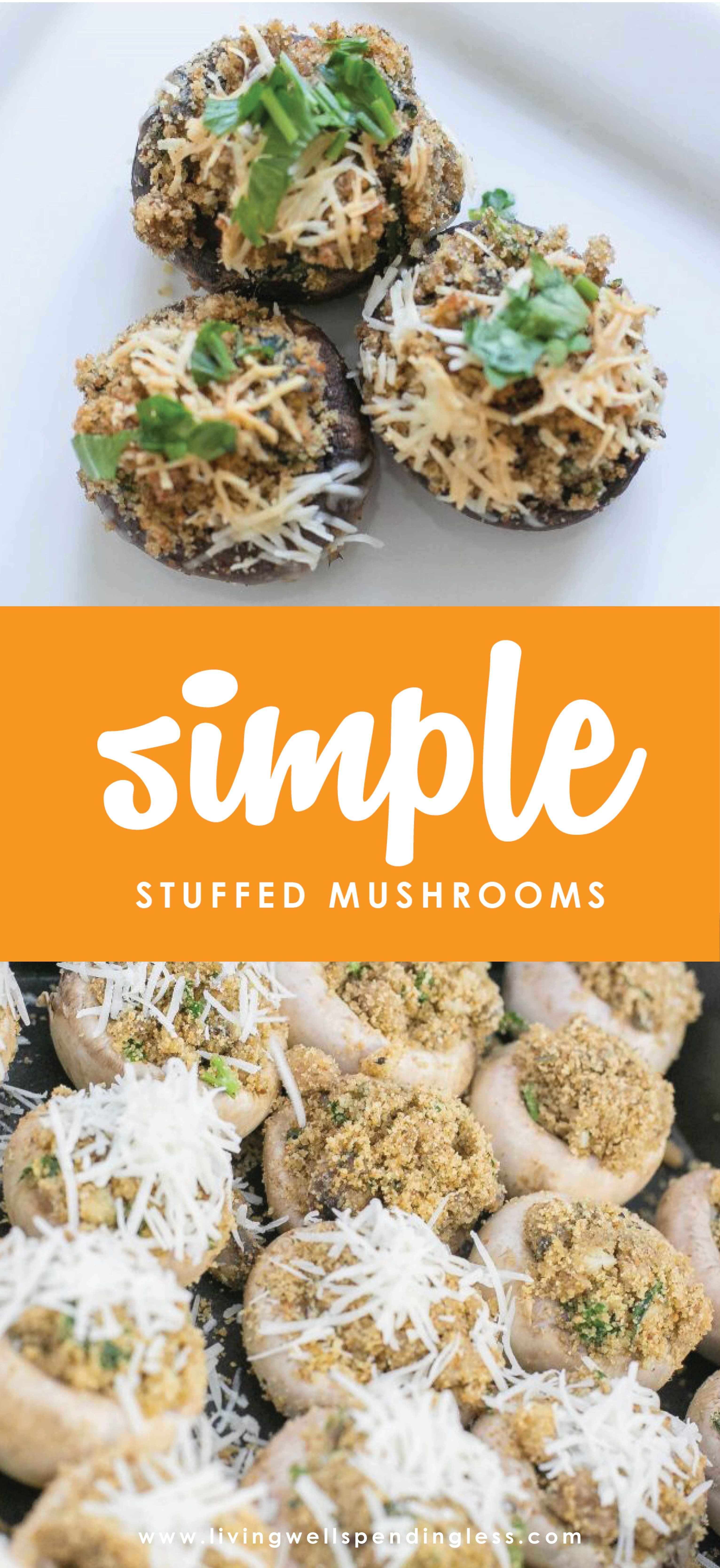 Love mushrooms? These super simple--and ridiculously delicious--stuffed mushrooms will make any day feel like a holiday. Perfect for your holiday menu, or maybe just because!