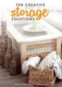 Running out of space to store (or hide) all your stuff? Don't miss these 10 creative storage solutions for making more room and getting more organized in every area of your home!