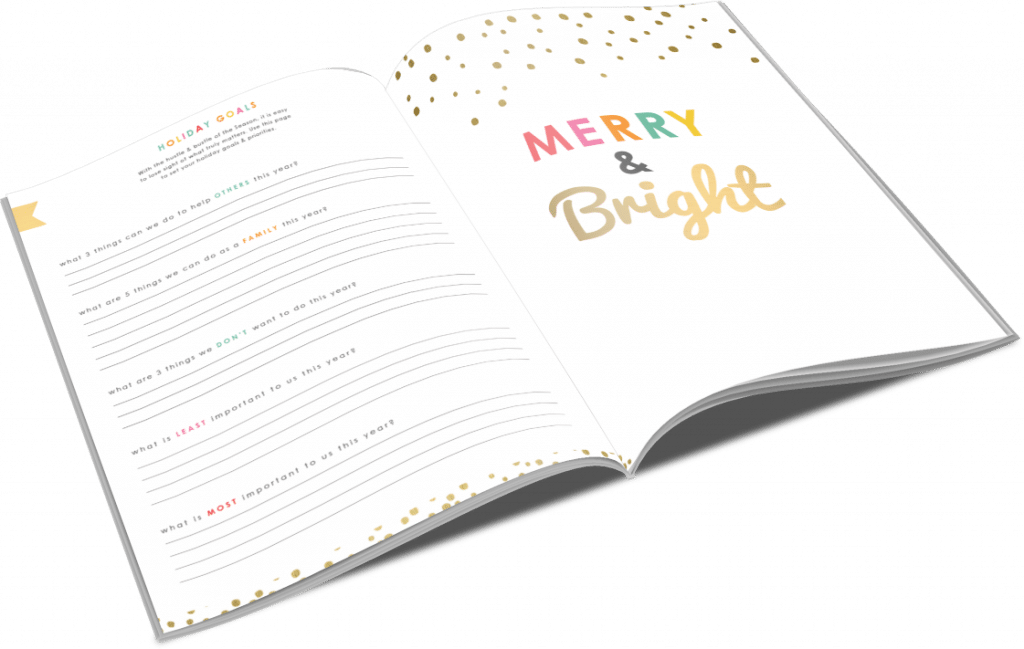 Keep track of your holiday goals with the 2017 Holiday Planner!