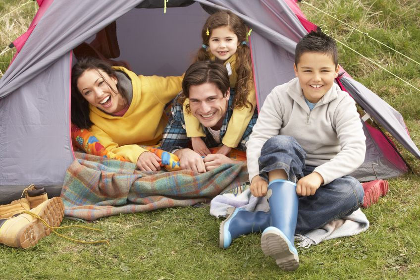 Camping is inexpensive but fun for the whole family. Get your tent and hit the wilderness!