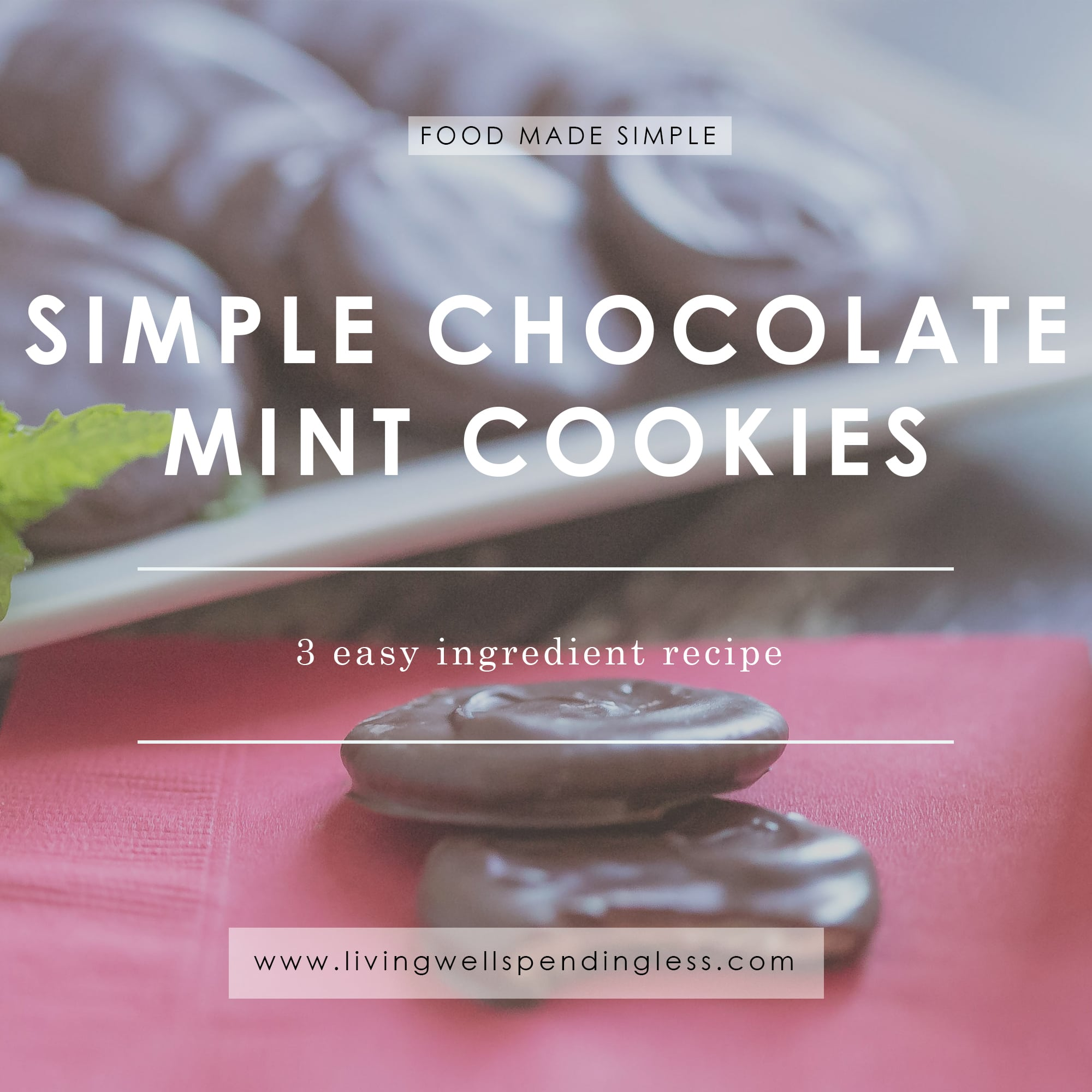 Craving Thin Mints?  These Simple Chocolate Mint Cookies are a dead ringer for your favorite Girl Scout cookies.  Better yet, with just 3 simple ingredients, they literally come together in less than 5 minutes!  Homemade has never been this easy...or this delicious!