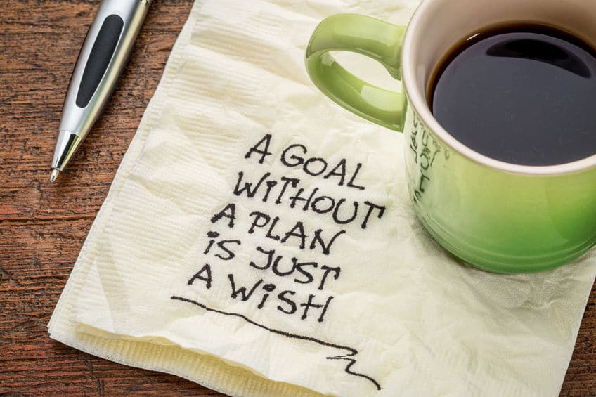 Setting goals and writing plans down to achieve them is a great way to find success.