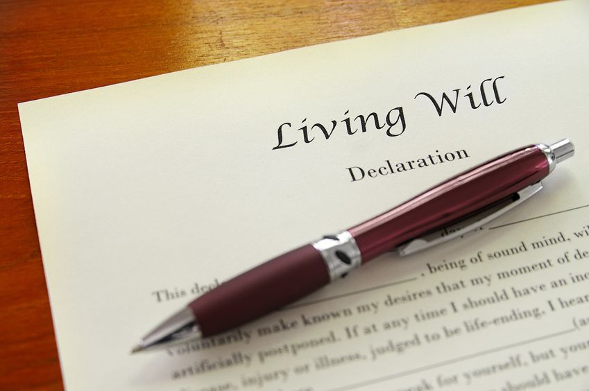 Ensure your aging parent has a living will document so finances are in order.
