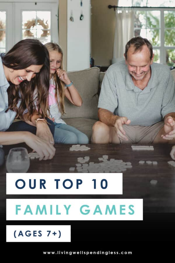 Need a few new ideas for family game night or some surefire-hit Christmas gift ideas? Don't miss this awesome review of ten wonderful family games that are fun for kids (ages 7 and up) AND adults. Includes details on each games with ratings by both kids & parents. It's a must-read for every parent, grandparent and babysitter!