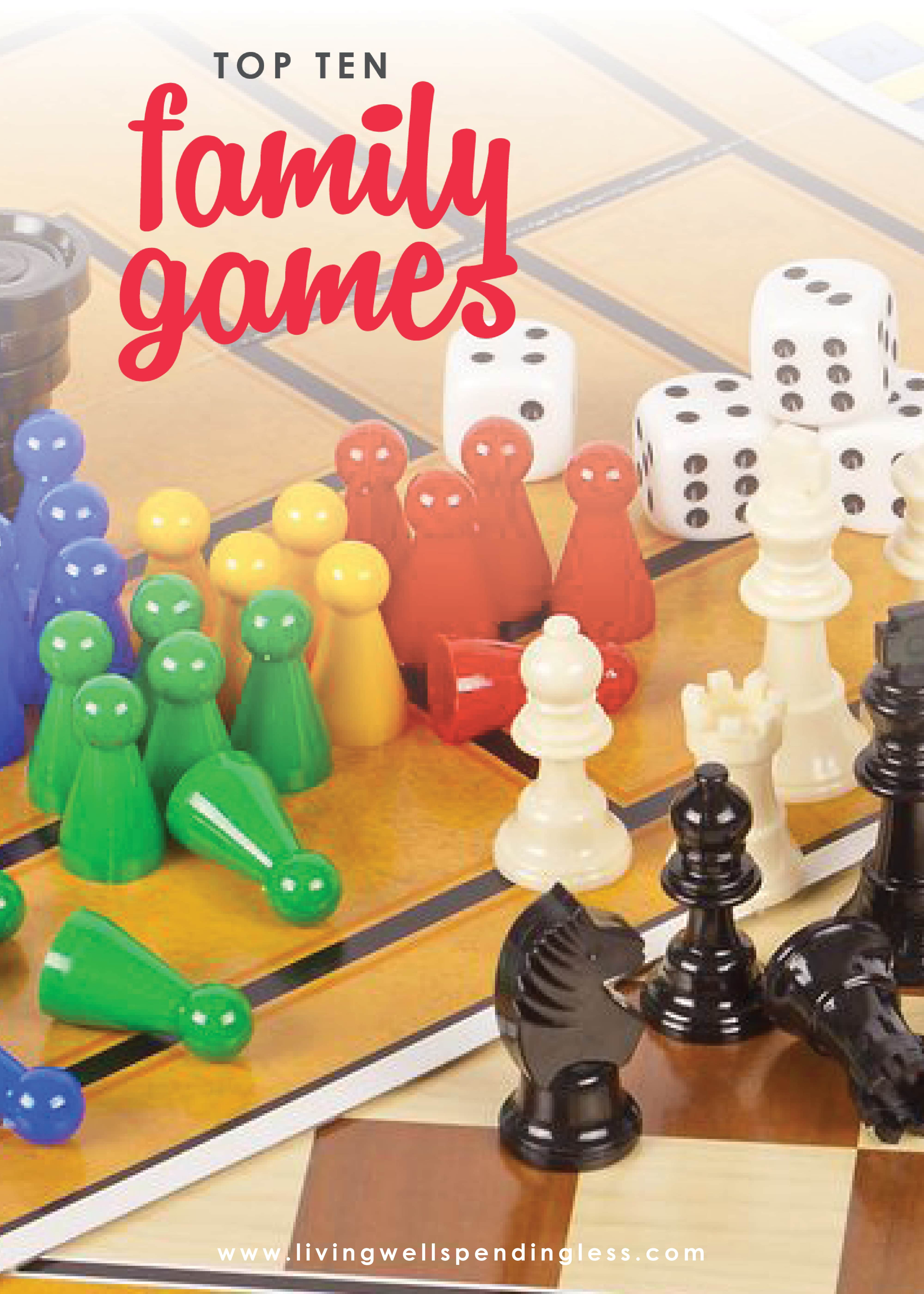 Don't miss this awesome review of 10 family games that are fun for kids (ages 7 and up) AND adults. Includes details on each games with ratings by both kids & parents. Need a few new ideas for family game night or some surefire-hit Christmas gift ideas? Don't miss this awesome review of 10 family games that are fun for kids (ages 7 and up) AND adults. Includes details on each games with ratings by both kids & parents. Need a few new ideas for family game night or some surefire-hit Christmas gift ideas? Don't miss this awesome review of ten wonderful family games that are fun for kids (ages 7 and up) AND adults. Includes details on each games with ratings by both kids & parents. It's a must-read for every parent, grandparent and babysitter!