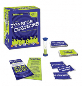 Ready for a hilarious group game? Reverse charades is tons of fun for the whole family.