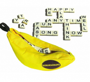 Bananagrams is portable, smart and fun for the whole family.