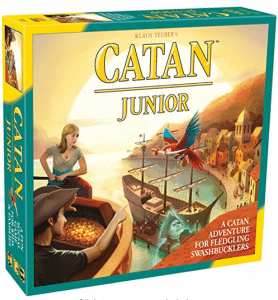 Like Settlers of Catan, Catan Junior is highly engaging and a great adventure game for kids.