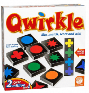 Qwirkle is such a fun game for 2-4 players. It's great for everyone in the family.