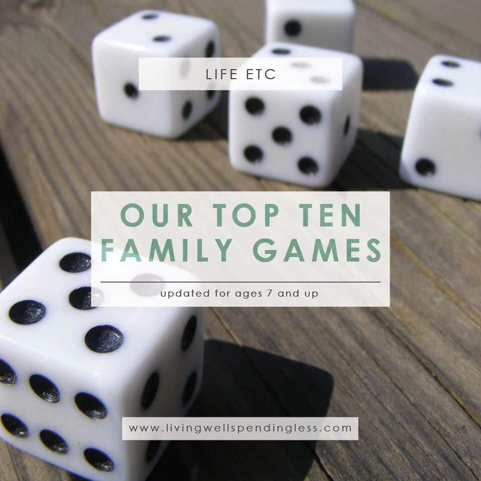 Our Top 10 Family Games | Best Games for Kids Ages 7 & Up | Life with kids | Parenting | Weekend Activities