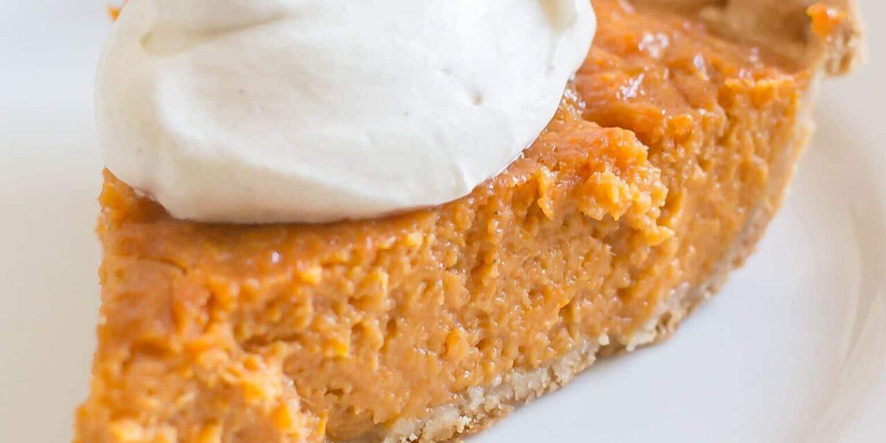 Sweet Potato Pie with Maple Whipped Cream