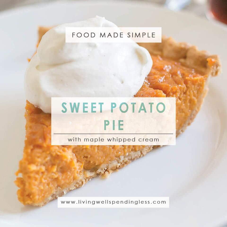 Easy Sweet Potato Pie | Thanksgiving Desserts | Pie Recipes |