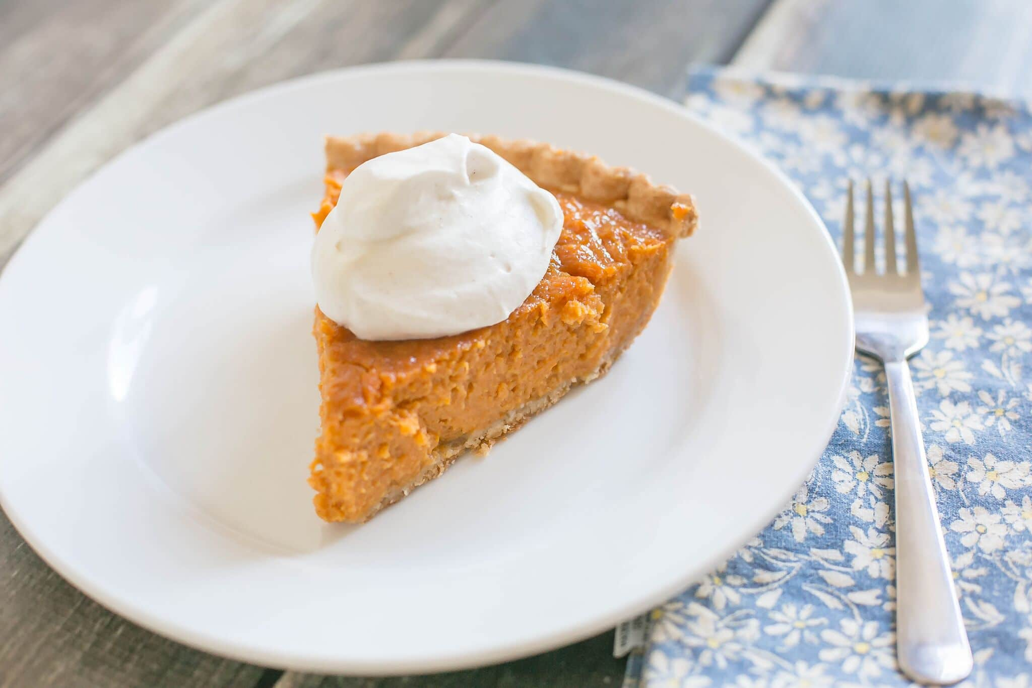 Slice pie and serve with maple whipped cream and enjoy!