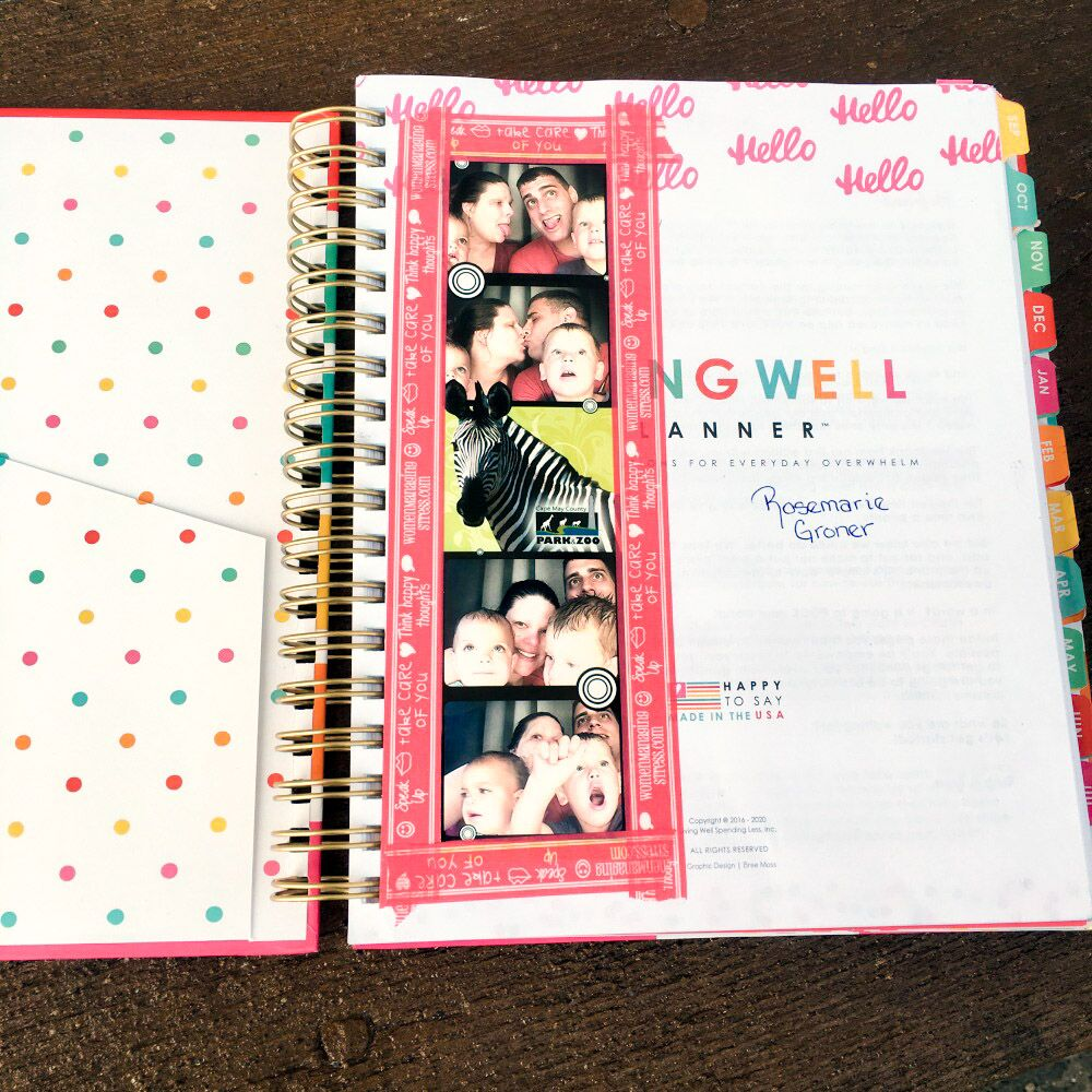 The Living Well Planner offers plenty of room to personalize!