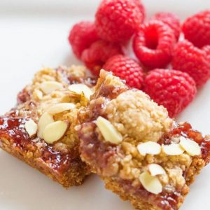 Raspberry Jam Crumb Bars   Easy 5 Ingredient Recipe   5 Ingredient Dessert   Easy Dessert Recipe   Semi-homemade Dessert