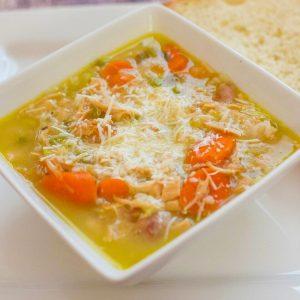 Easy Turkey & Rice Soup   Freezer Friendly Soup Recipe   Thanksgiving Leftover Recipe   Simple Soup