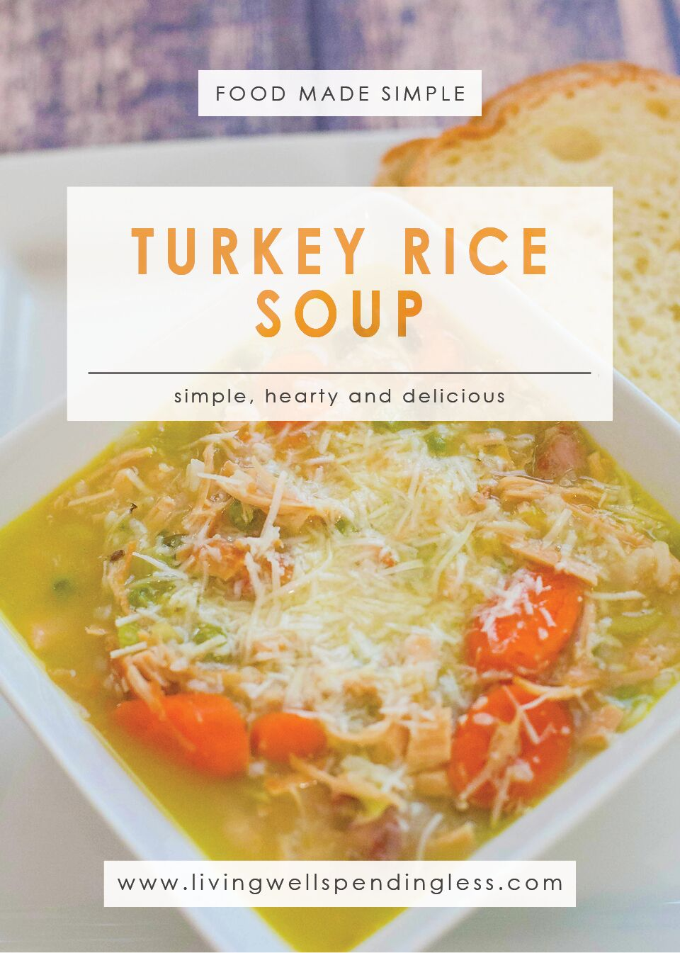 Turkey & Rice Soup | Food Made Simple | Soup Recipes | Stockpile Meals | Meal Planning