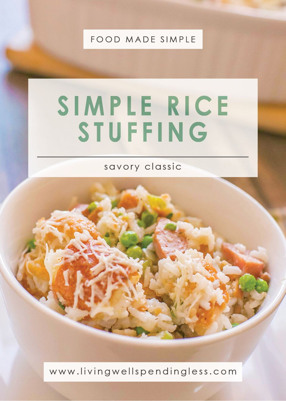 Simple Rice Stuffing | Easy Thanksgiving Side DIsh | Food Made Simple | Holiday Treats| Side Dishes