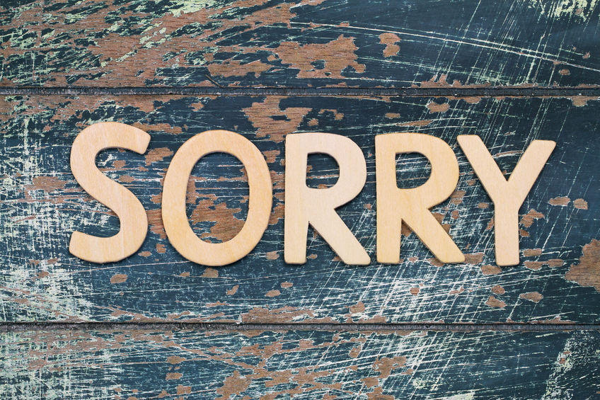 Stop over apologizing. Don't apologize for everything - accept that you can't be perfect and learn from your mistakes