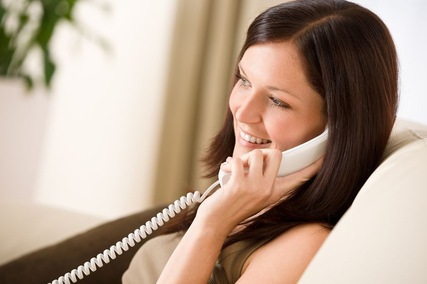 Pick up the phone and call a friend to chat and catch up.