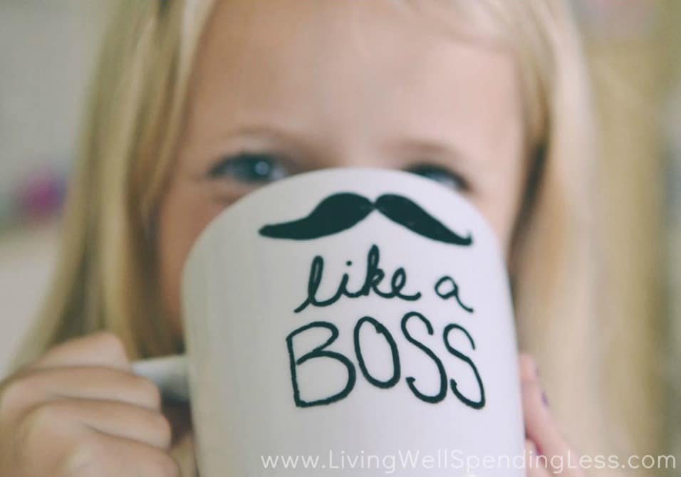 Personalized gifts like this handmade mug are great kids crafts