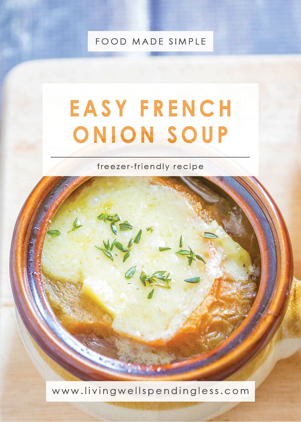 Easy French Onion Soup | Food Made Simple | Freezer Cooking | Soup Recipe